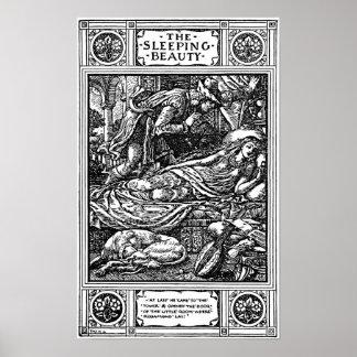 Ejemplo de la grúa de Gualterio de la bella durmie Póster