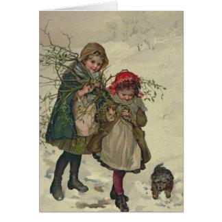 Ejemplo de la hada del árbol de navidad, pub. 1886 tarjeta de felicitación