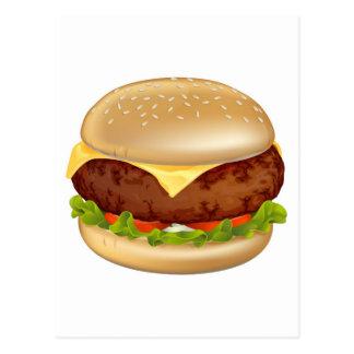 Ejemplo de la hamburguesa tarjetas postales