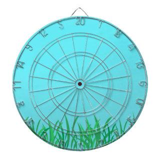 Ejemplo de la hierba verde y del cielo azul