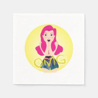 Ejemplo de la inspiración: Chica de OMG Servilletas Desechables