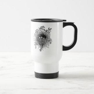Ejemplo de la jerarquía del pájaro del vintage taza de viaje