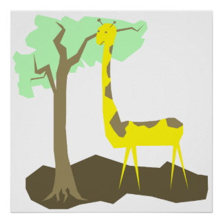 Ejemplo de la jirafa posters