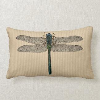 Ejemplo de la libélula del vintage cojin