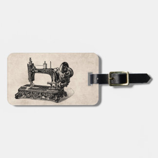 Ejemplo de la máquina de coser de los 1800s del etiqueta para equipaje