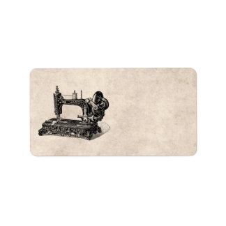 Ejemplo de la máquina de coser de los 1800s del etiquetas de dirección