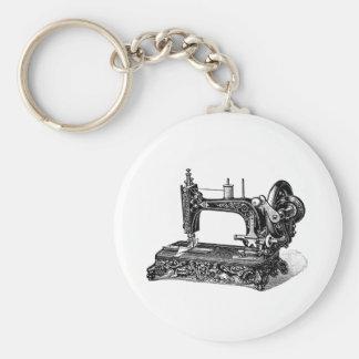 Ejemplo de la máquina de coser de los 1800s del llavero redondo tipo pin