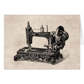 Ejemplo de la máquina de coser de los 1800s del tarjeta de felicitación