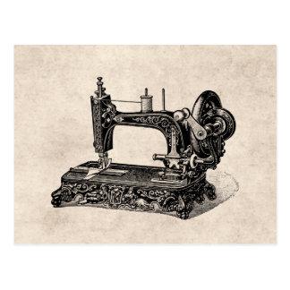 Ejemplo de la máquina de coser de los 1800s del tarjetas postales