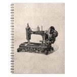 Ejemplo de la máquina de coser de los 1800s del vi libreta