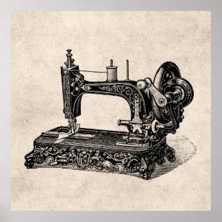 Ejemplo de la máquina de coser de los 1800s del vi poster
