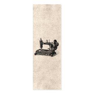 Ejemplo de la máquina de coser de los 1800s del vi plantilla de tarjeta de negocio