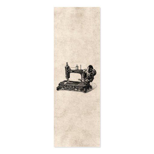 Ejemplo de la máquina de coser de los 1800s del vi tarjetas de visita mini
