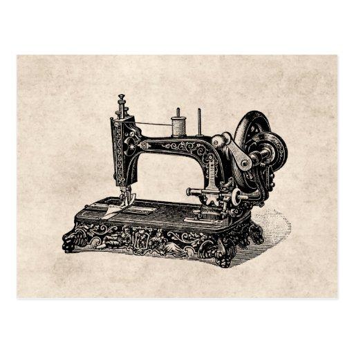 Ejemplo de la máquina de coser de los 1800s del vi tarjeta postal