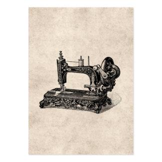 Ejemplo de la máquina de coser de los 1800s del vi tarjetas de visita grandes