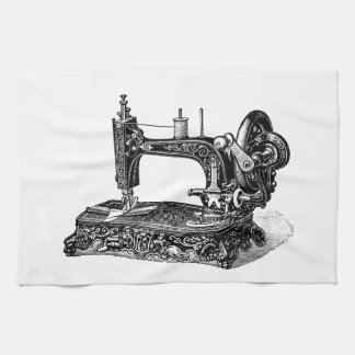 Ejemplo de la máquina de coser de los 1800s del vi toalla