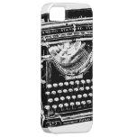 Ejemplo de la máquina de escribir del vintage iPhone 5 coberturas