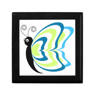 Ejemplo de la mariposa de la animación del verde a