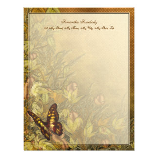 Ejemplo de la mariposa del estilo del vintage membretes personalizados