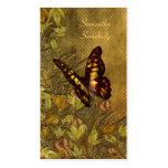 Ejemplo de la mariposa del estilo del vintage tarjetas de visita