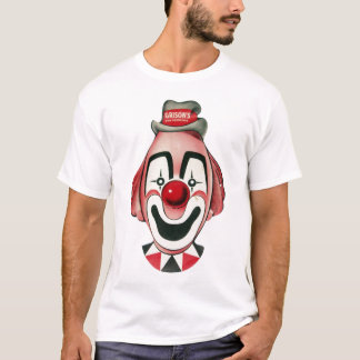 Ejemplo de la máscara del payaso del vintage playera