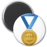 Ejemplo de la medalla de bronce iman de frigorífico