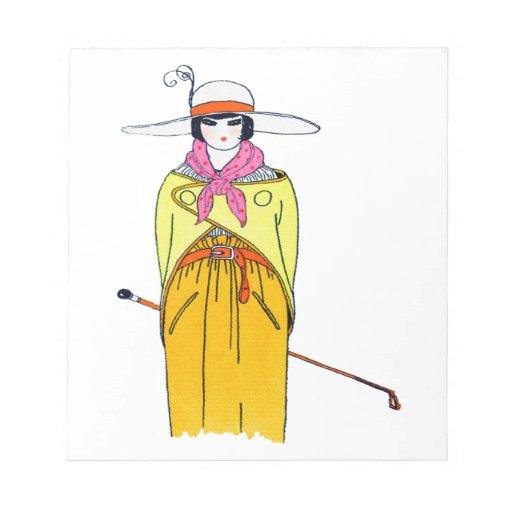 Ejemplo de la moda de las mujeres blocs de papel