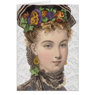 Ejemplo de la moda del Victorian - tarjeta de feli