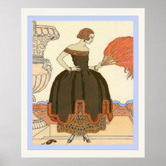 Ejemplo de la moda del vintage del ~ de Pavane Poster