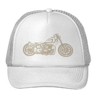 Ejemplo de la motocicleta del vintage gorro de camionero