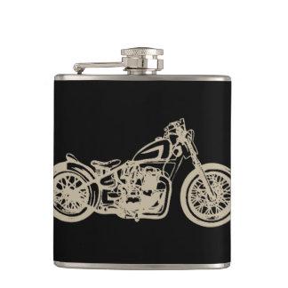 Ejemplo de la motocicleta del vintage petaca