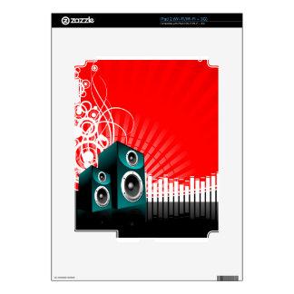ejemplo de la música con el altavoz y el elemento skin para el iPad 2