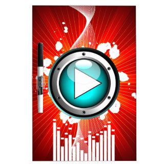 ejemplo de la música con el botón de reproducción pizarra