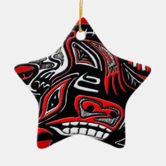 Ejemplo de la nutria del arte del Haida del nativo Ornamento De Reyes Magos