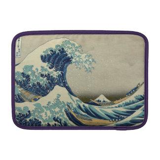 Ejemplo de la onda azul del japonés funda macbook air