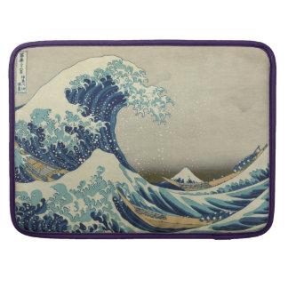 Ejemplo de la onda azul del japonés funda para macbooks