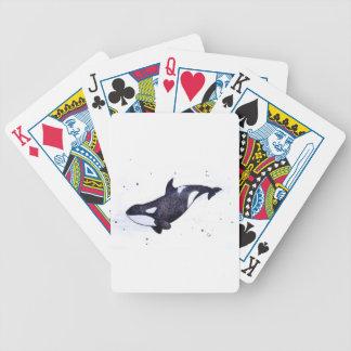 Ejemplo de la orca de la orca cartas de juego