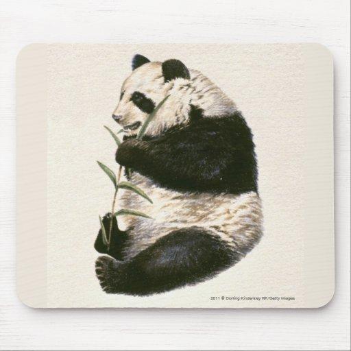 Ejemplo de la panda gigante que alimenta en bambú tapete de ratones