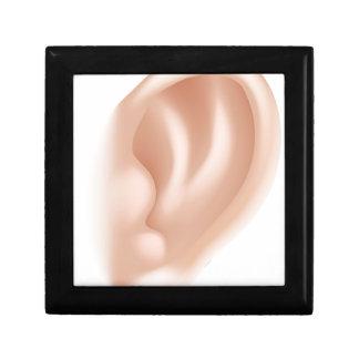 Ejemplo de la parte del cuerpo del oído cajas de joyas