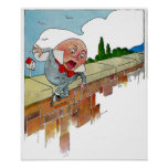 Ejemplo de la poesía infantil de Humpty Dumpty del Poster