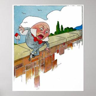 Ejemplo de la poesía infantil de Humpty Dumpty del Póster