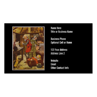 Ejemplo de la poesía infantil del vintage plantillas de tarjetas de visita