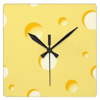Ejemplo de la rebanada del queso reloj cuadrado