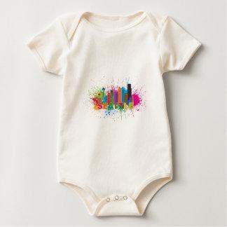 Ejemplo de la salpicadura de la pintura del mameluco de bebé
