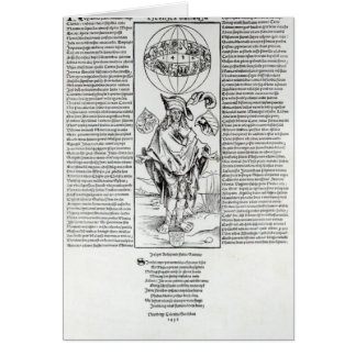 Ejemplo de la sífilis, 1496 tarjeta de felicitación