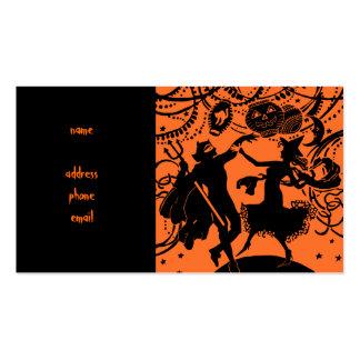 Ejemplo de la silueta de la danza de la bruja del tarjetas de visita