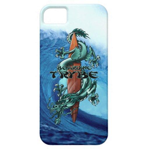 Ejemplo de la tabla hawaiana del dragón de Trybe iPhone 5 Case-Mate Cobertura
