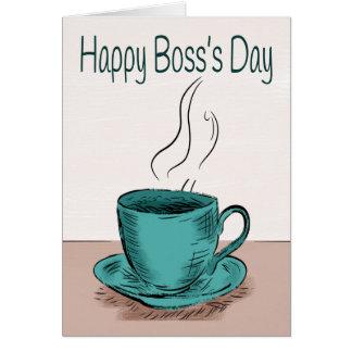 Ejemplo de la taza de café para el día de Boss Tarjeta De Felicitación