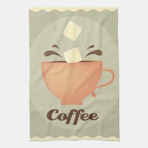 Ejemplo de la taza de café toallas de cocina