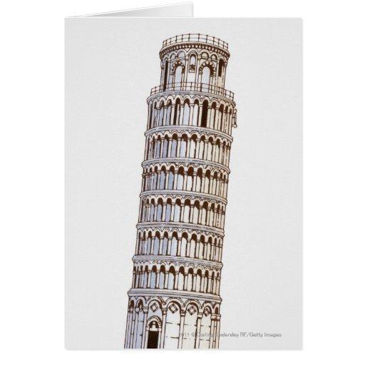 Ejemplo de la torre de Pisa Tarjetón